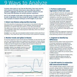 Nine Ways to Analyze