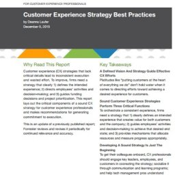 Forrester CX Best Practices