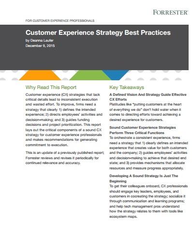 Forrester CX Best Practices