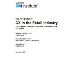 Informe CX - CX in the retail industry