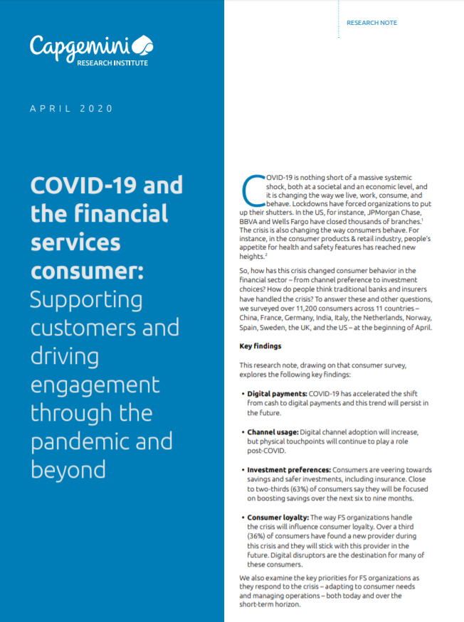 Informe CX - COVID 19 and the financial services consumer