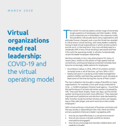 Informe CX - Virtual Organizations need real leadership - Capgemini