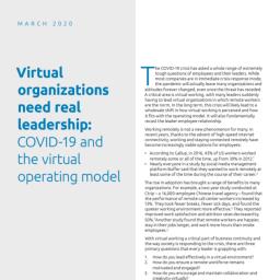 Informe CX - Virtual Organizations need real leadership - Capgemini
