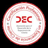 Sello Certificacion Profesional en Experiencia de Cliente